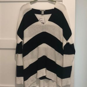 Forever 21 oversized striped sweater